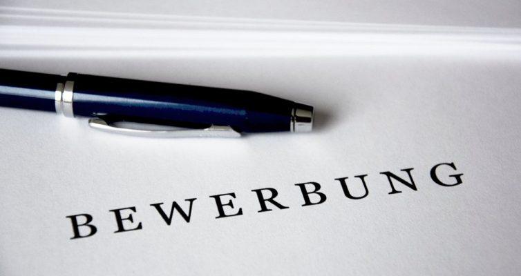 Stift mit dem Text Bewerbung