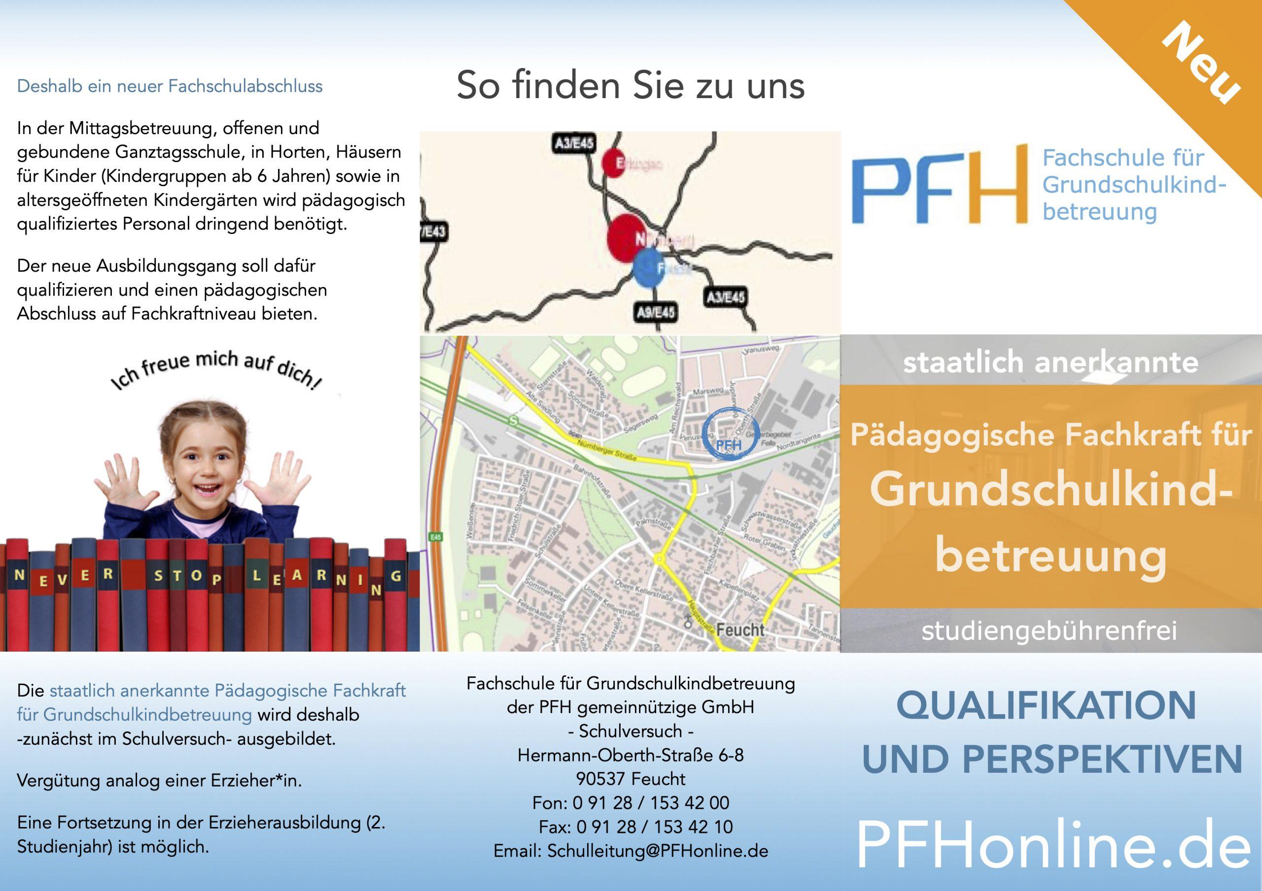 Flyer Grundschulkindbetreuung